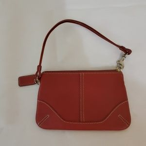 Red Leather Small Coach Purse